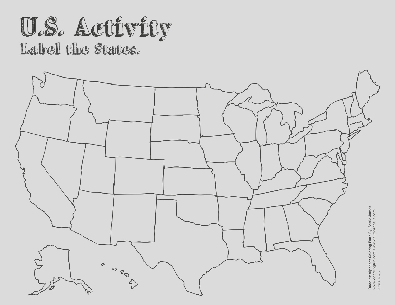 us coloring map