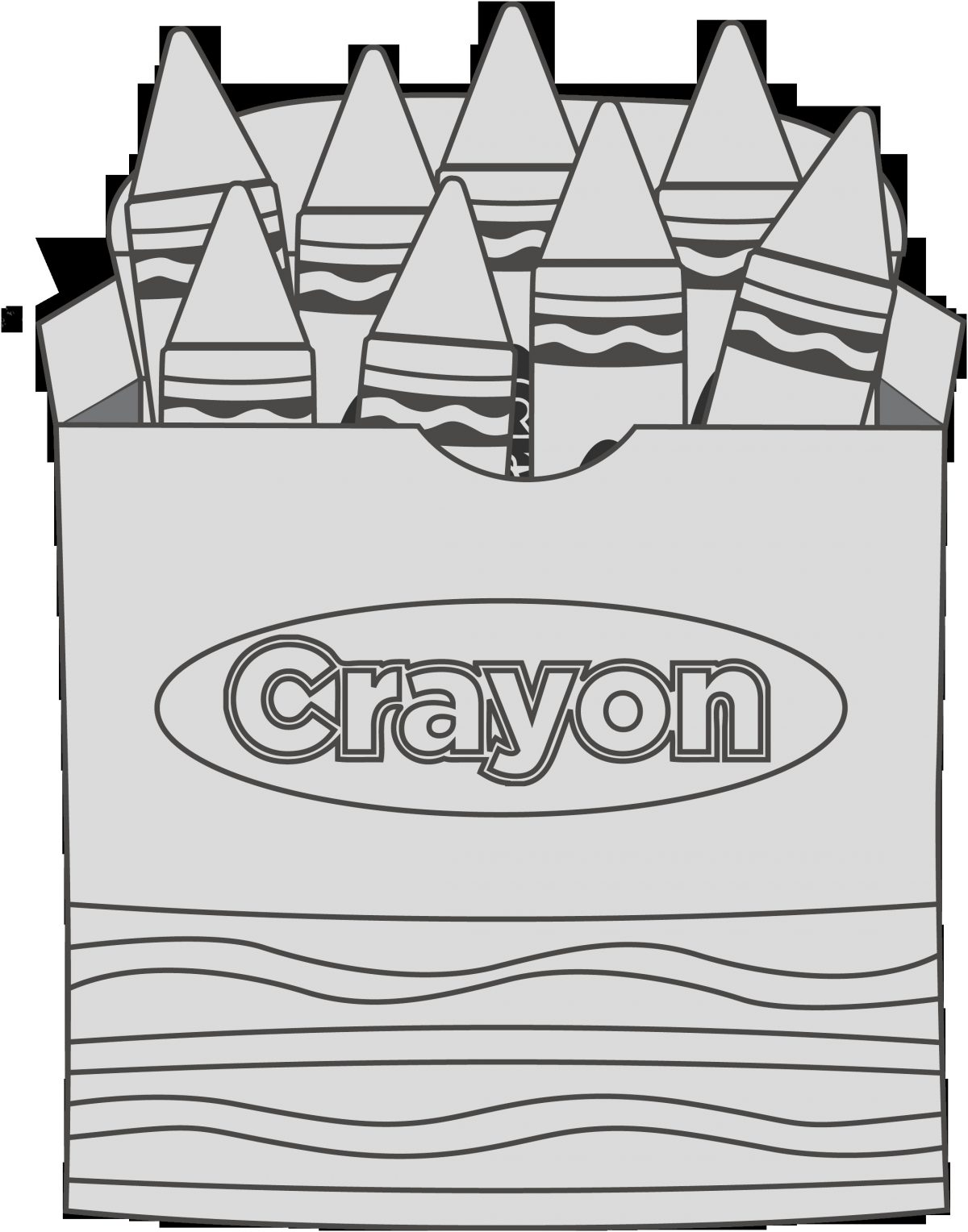 Coloring Page Clipart Lovely Best Crayon Box Clip Art Clipartion