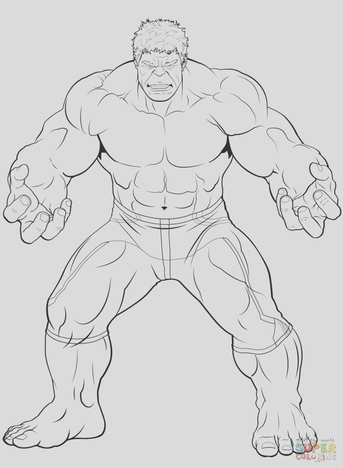avengers coloring pages the hulk printable