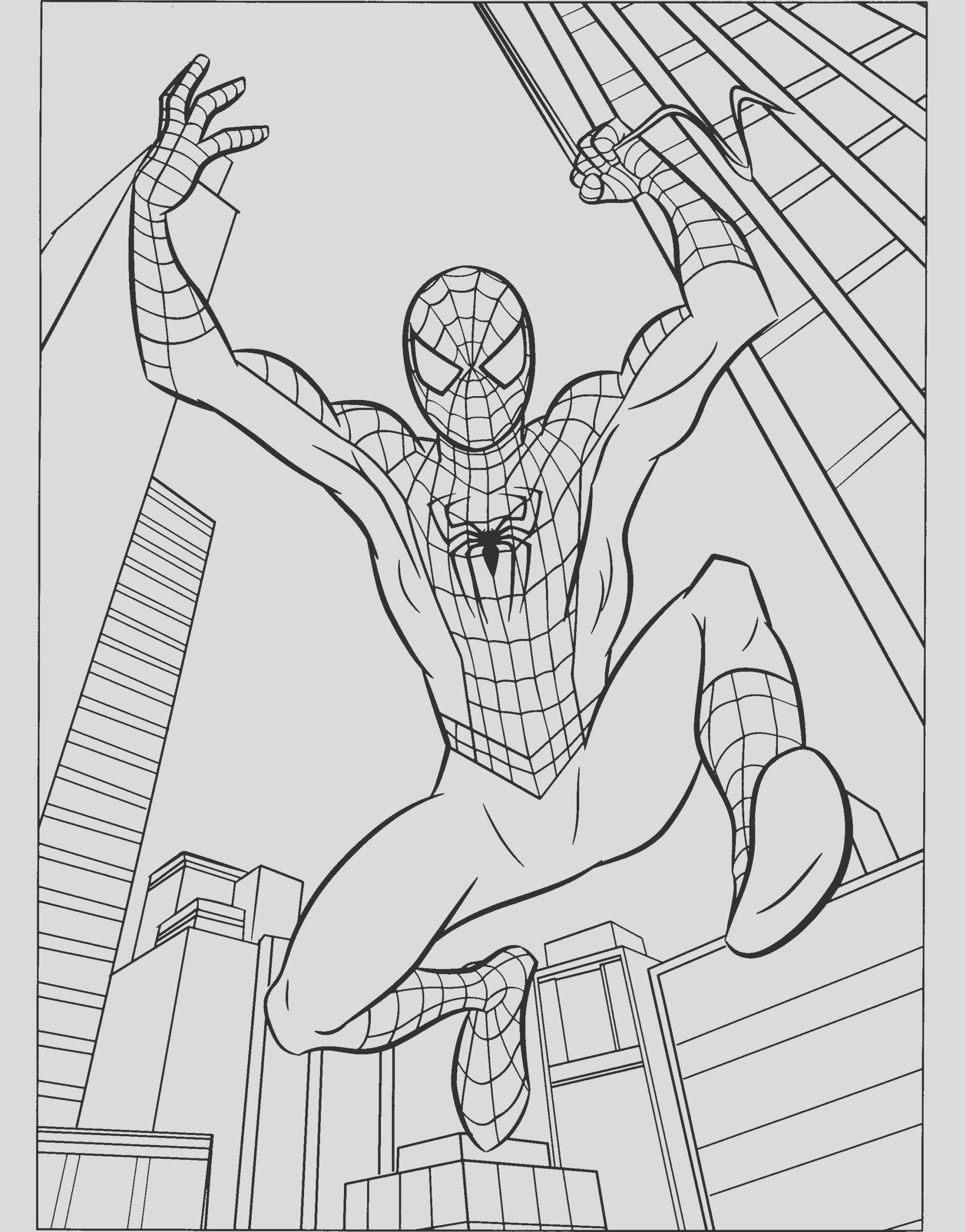 spiderman drawing color
