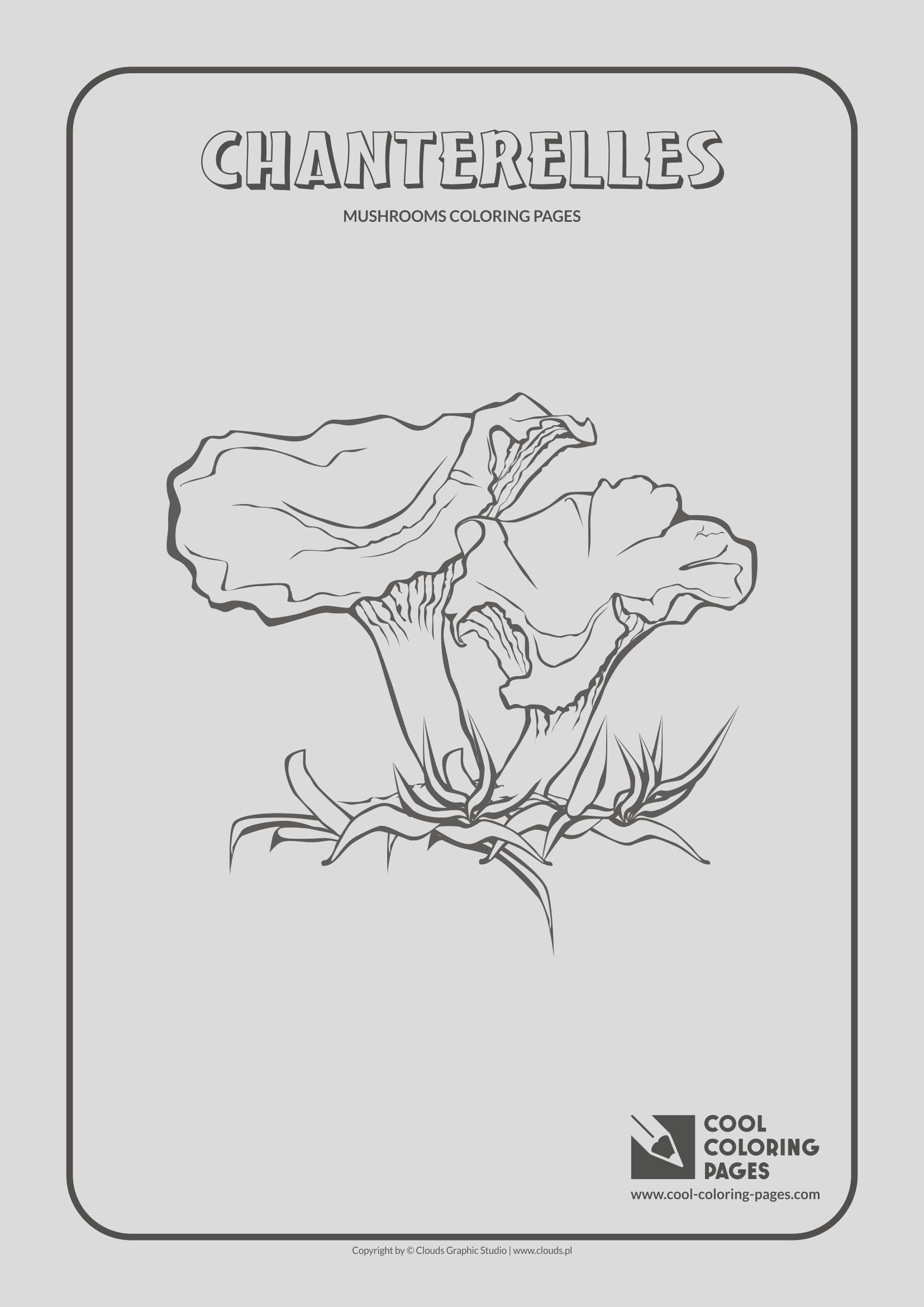 mushrooms coloring pages