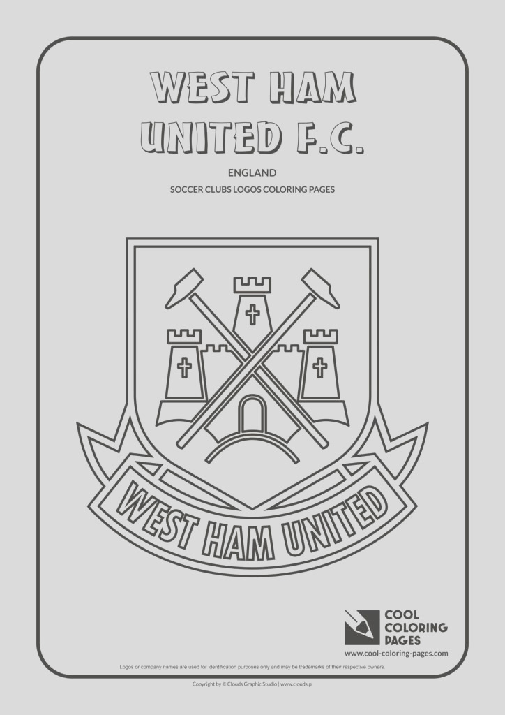 west ham united f c logo coloring page