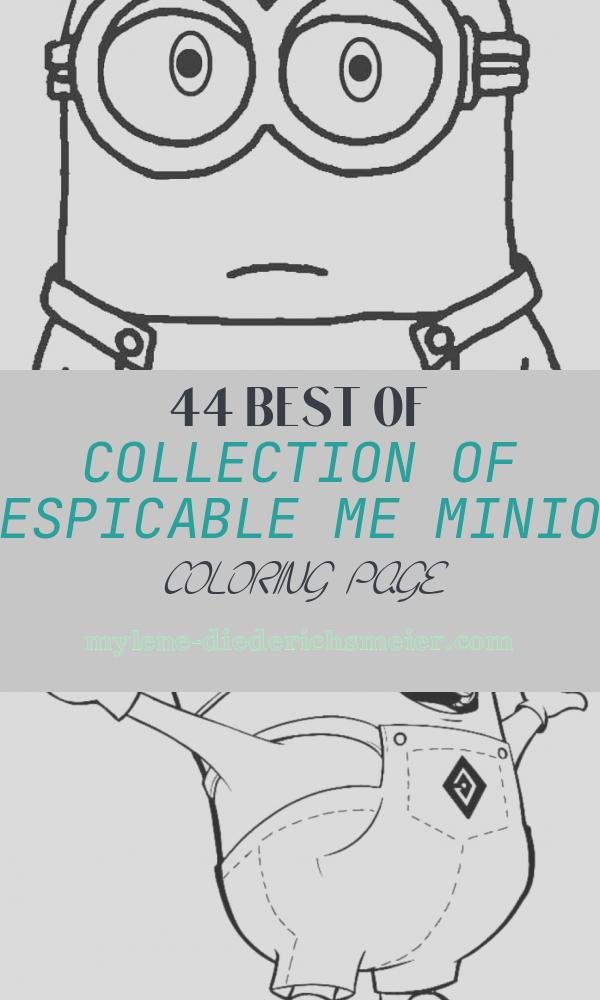 Despicable Me Minion Coloring Page Lovely Printable Despicable Me Coloring Pages for Kids