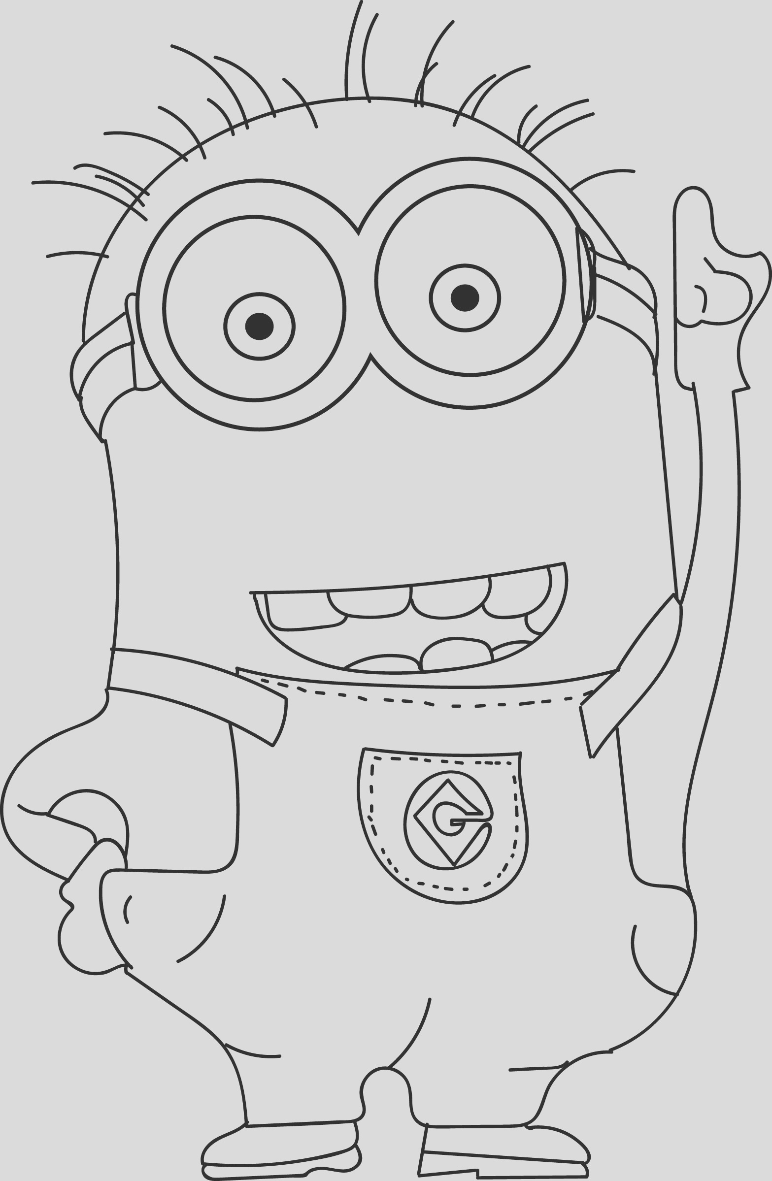 despicable 2 minions hand coloring page
