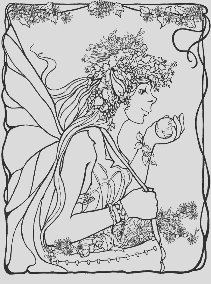 detailed fairy coloring pages sketch templates