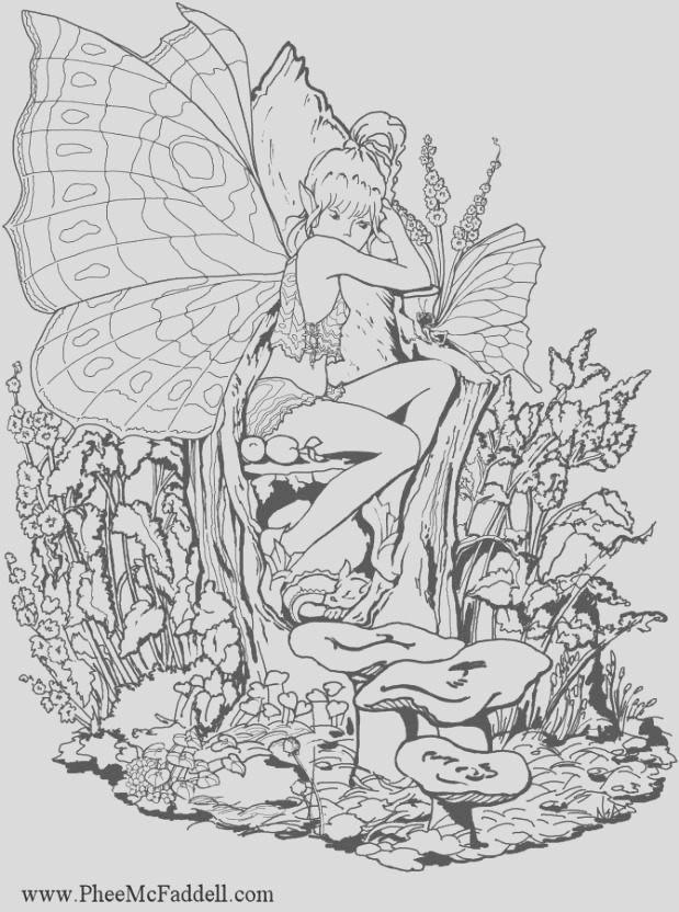 very detailed fairy coloring pages sketch templates