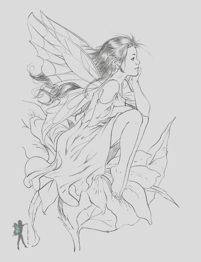 free fairy coloring pages by various