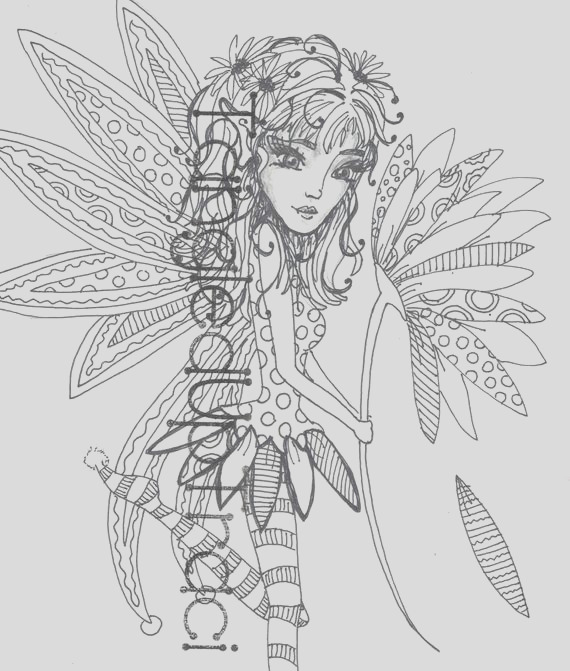 daysi a beautiful detailed fairy