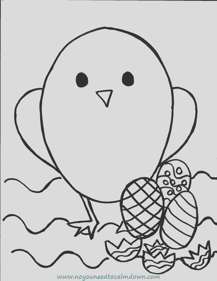 easter chick coloring page fr kids free printable