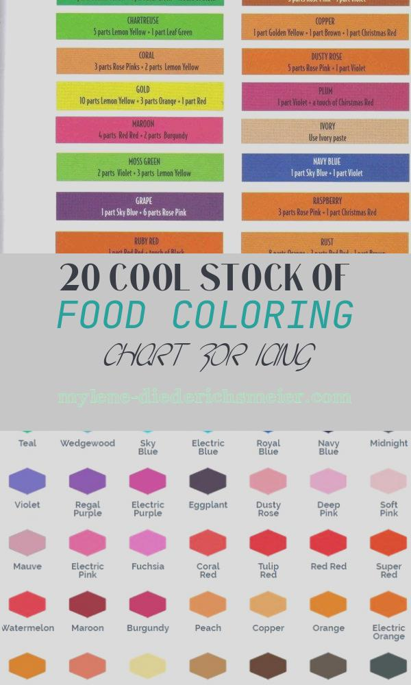 Food Coloring Chart for Icing Awesome Wilton Food Coloring Color Chart