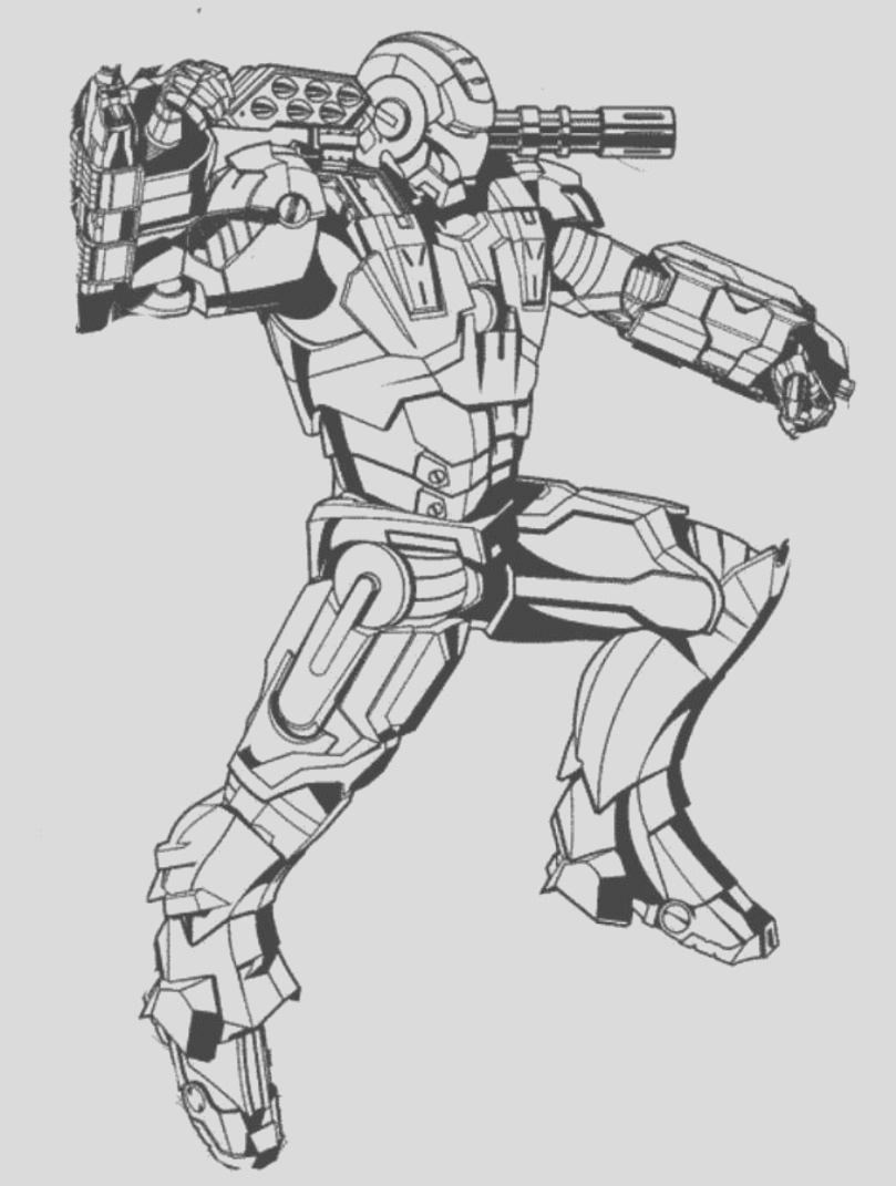 iron man avengers free coloring pages