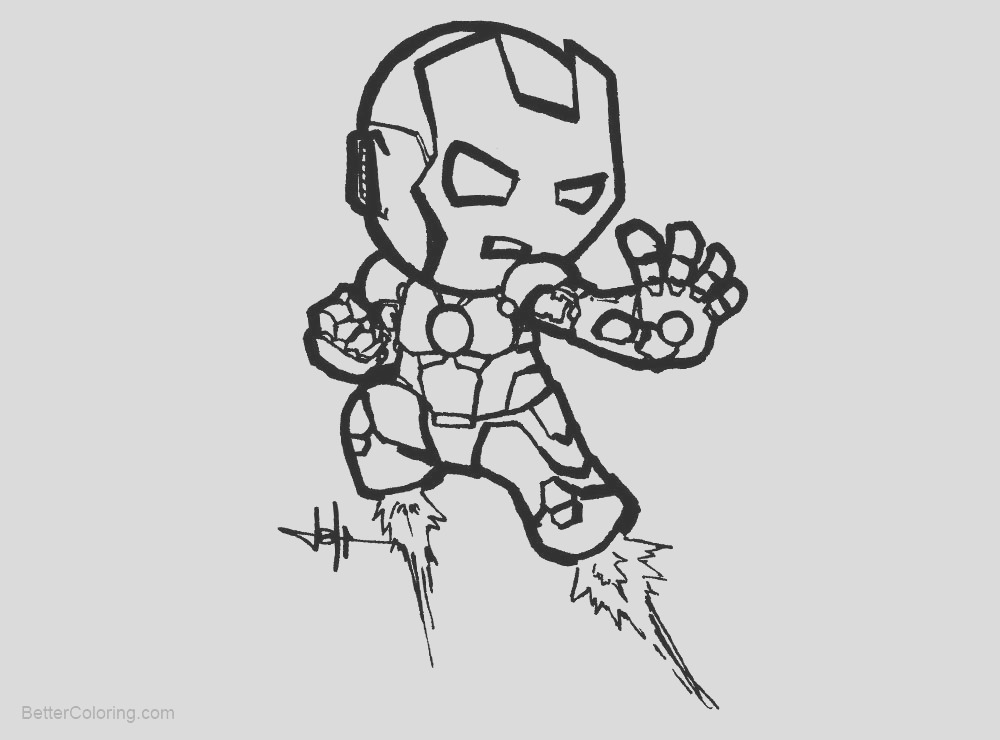 iron man chibi coloring pages by creeeeeees