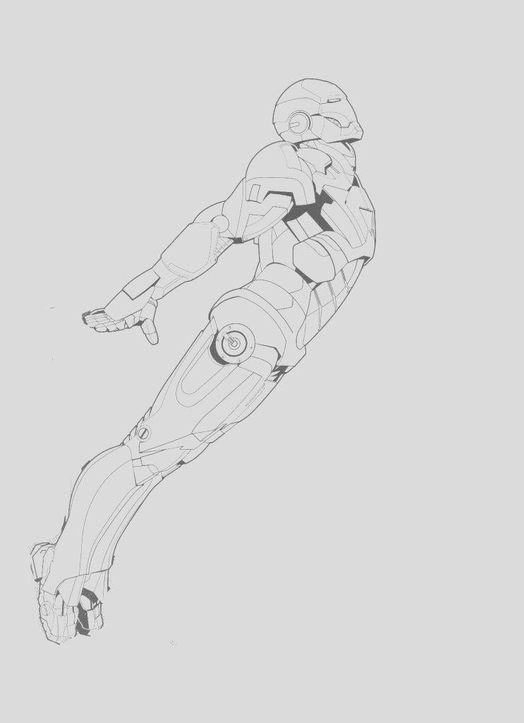 new iron man coloring page 2