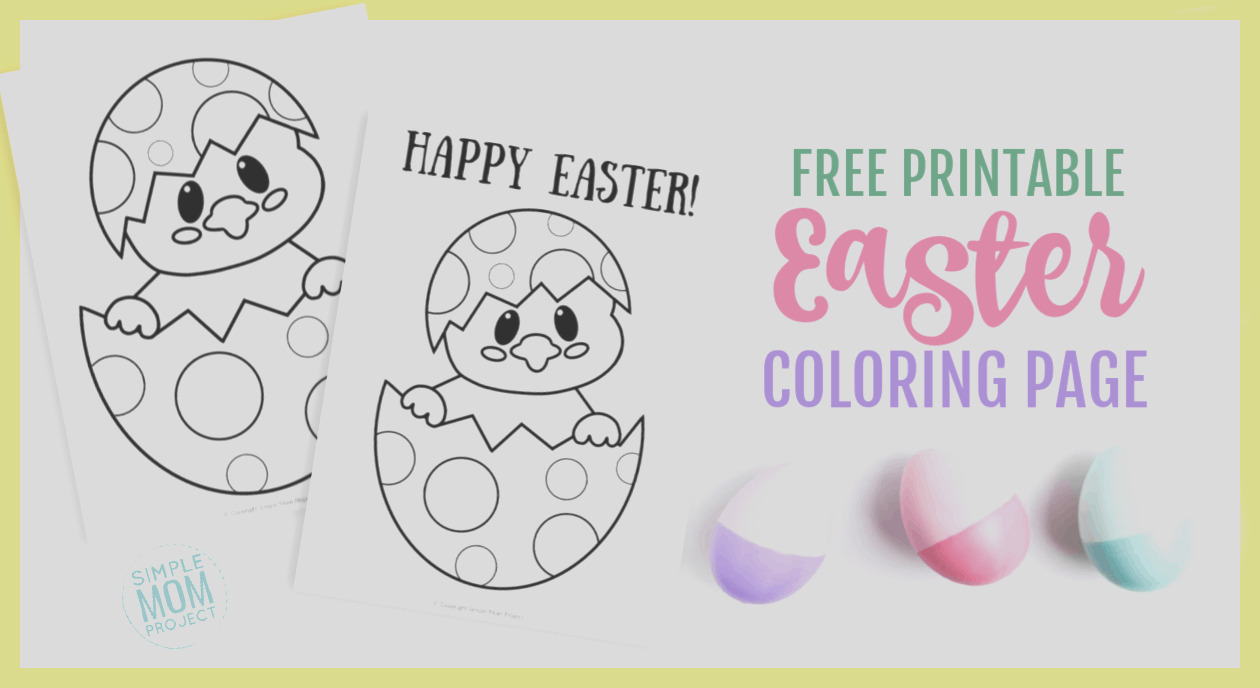 easter egg chick coloring page