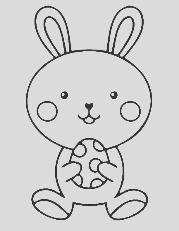 bunny head coloring pages