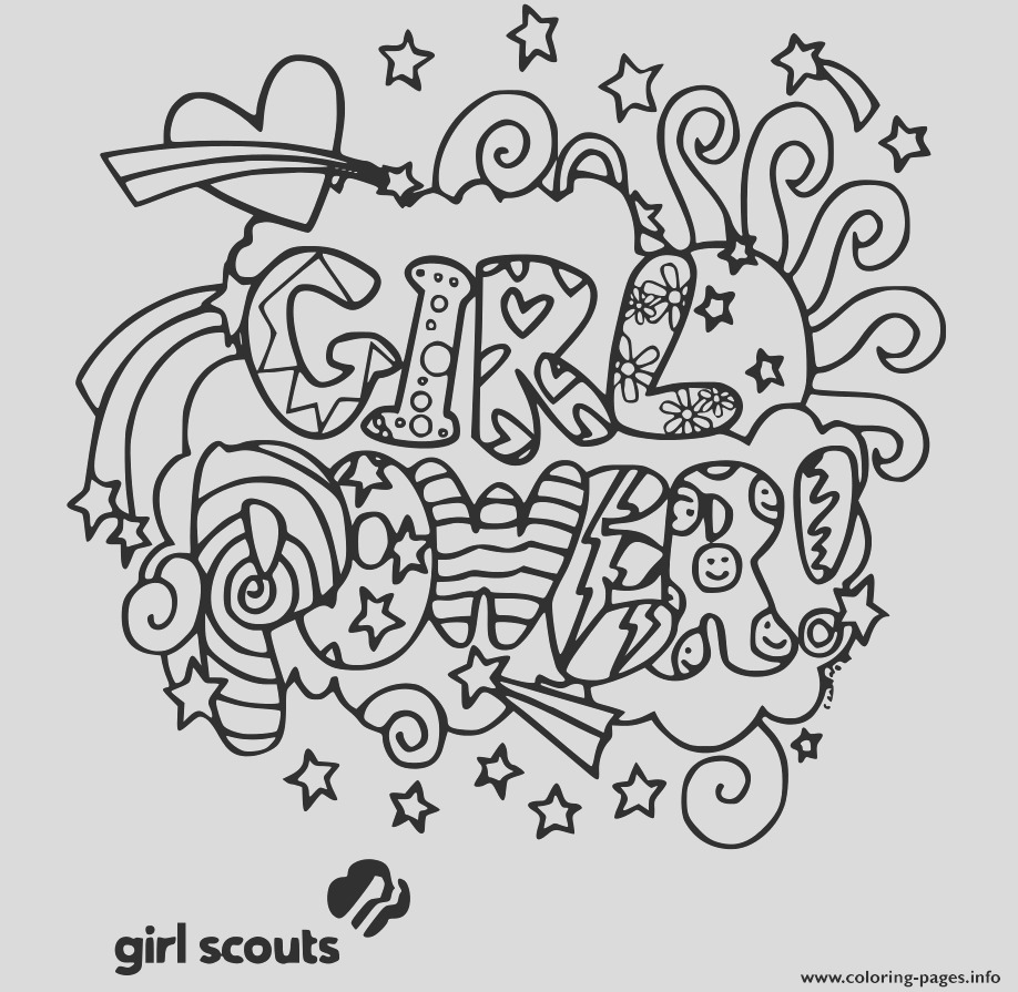 girl power girls scouts printable coloring pages book