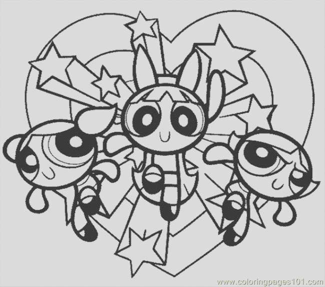 powerpuff girls colouring pages
