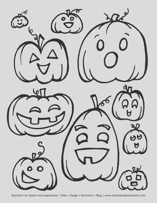 free halloween printable coloring book pages pumpkins ghosts bats