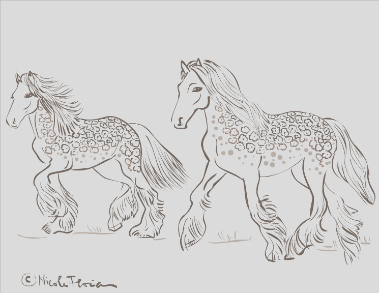 gipsy horses coloring page