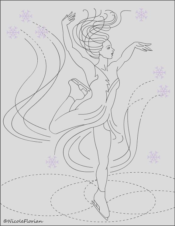 new scating coloring pages