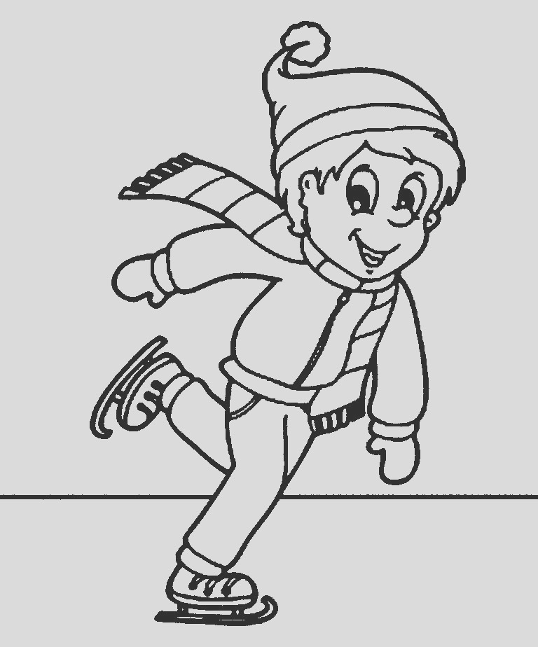 coloring pages ice skating