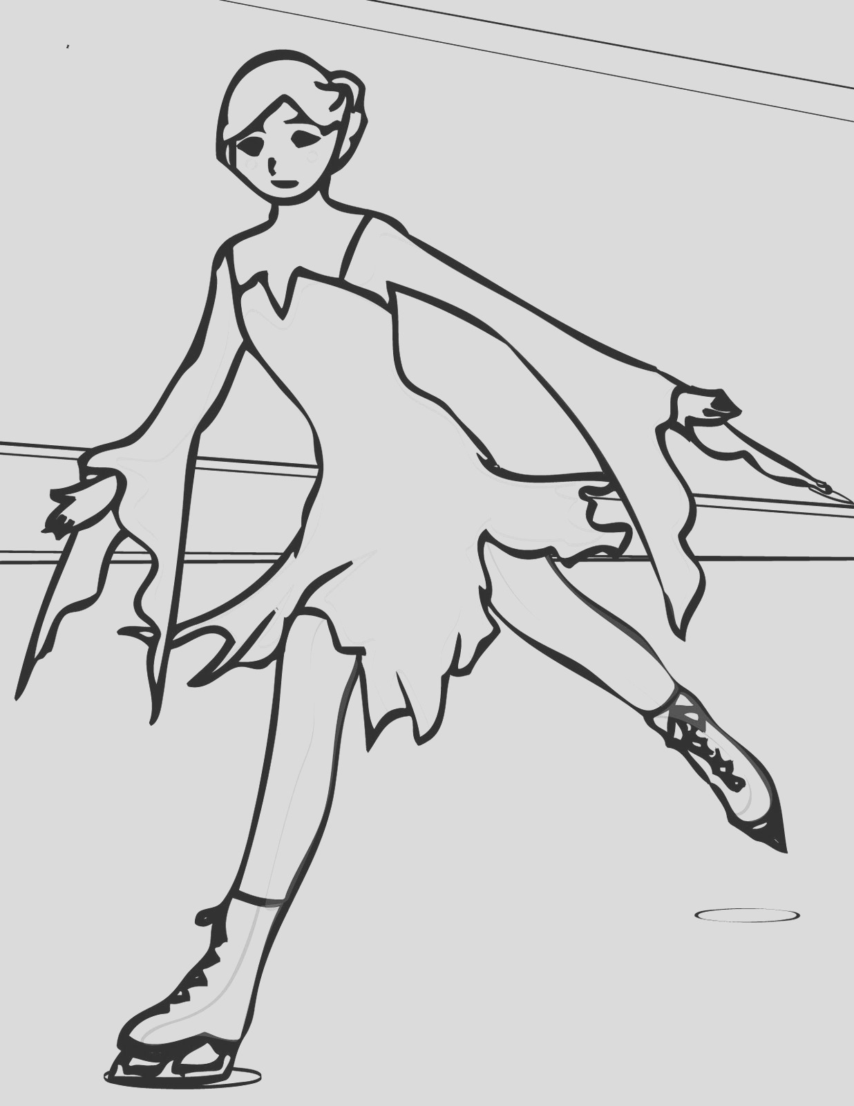 ice skating coloring pages