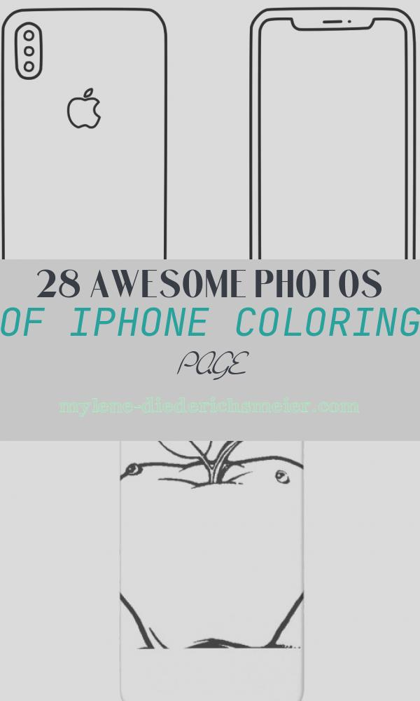 iPhone Coloring Page Awesome Learn Colors for Kids with iPhone X Coloring Pages for