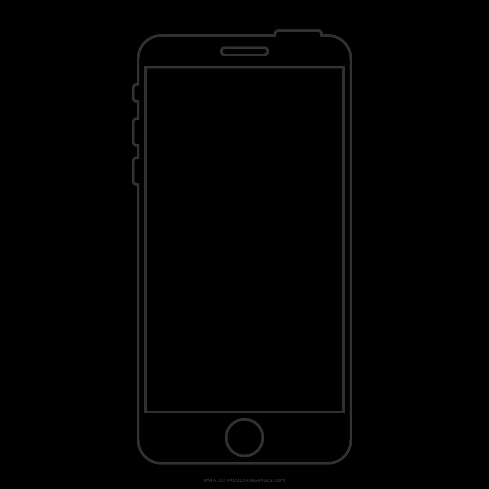 iphone clipart colouring