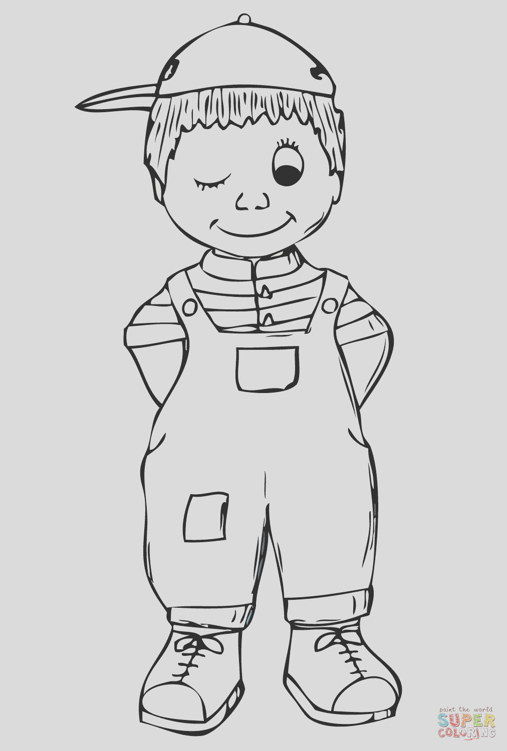 its a boy coloring pages