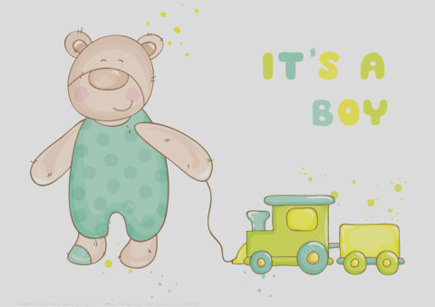 its a boy baby shower card
