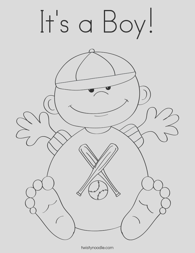 its a boy 10 coloring page