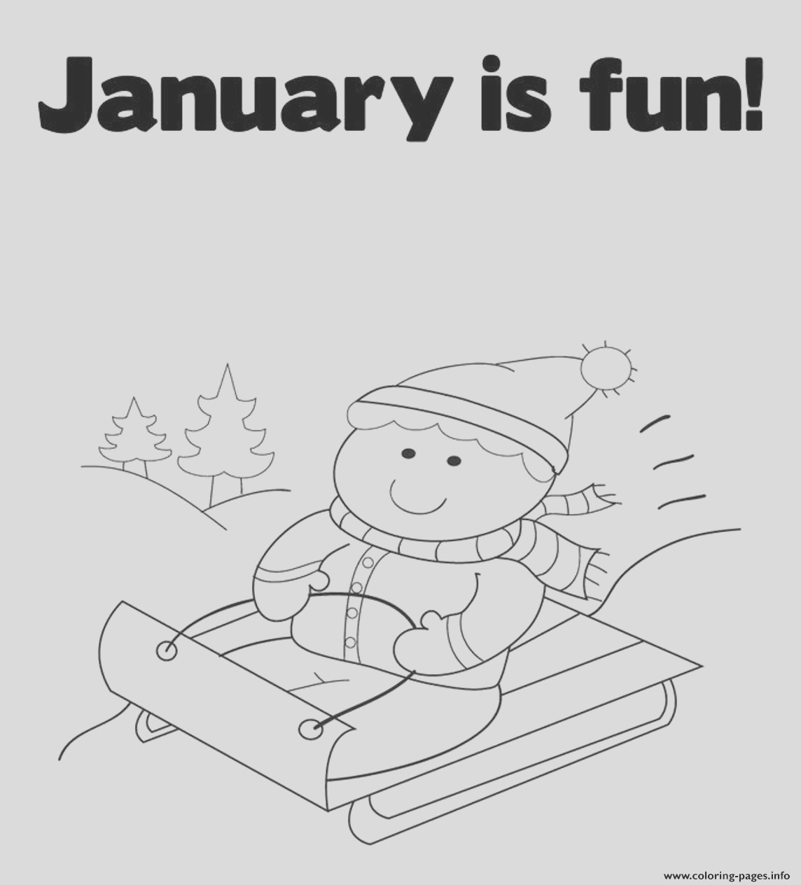 winter s printable january is fun7a12 printable coloring pages book 9098
