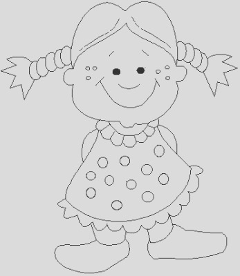 little girl kids coloring pages