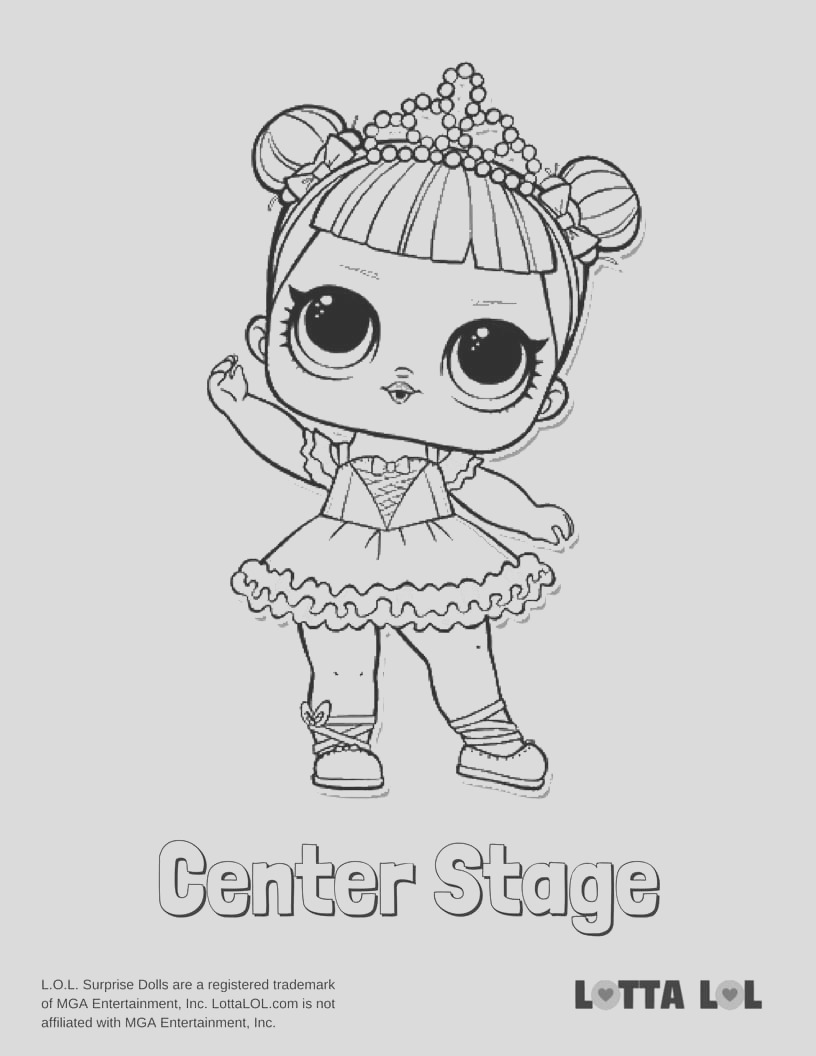 center stage coloring page