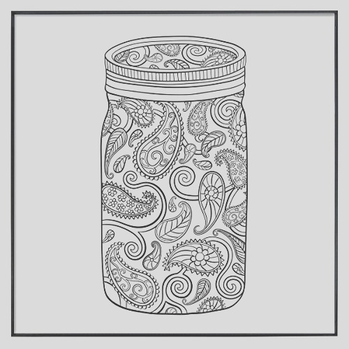 mcs time out color in framed adult coloring pages in mason jar designs includes mcs format frames 12 by 12 inch 2 pack