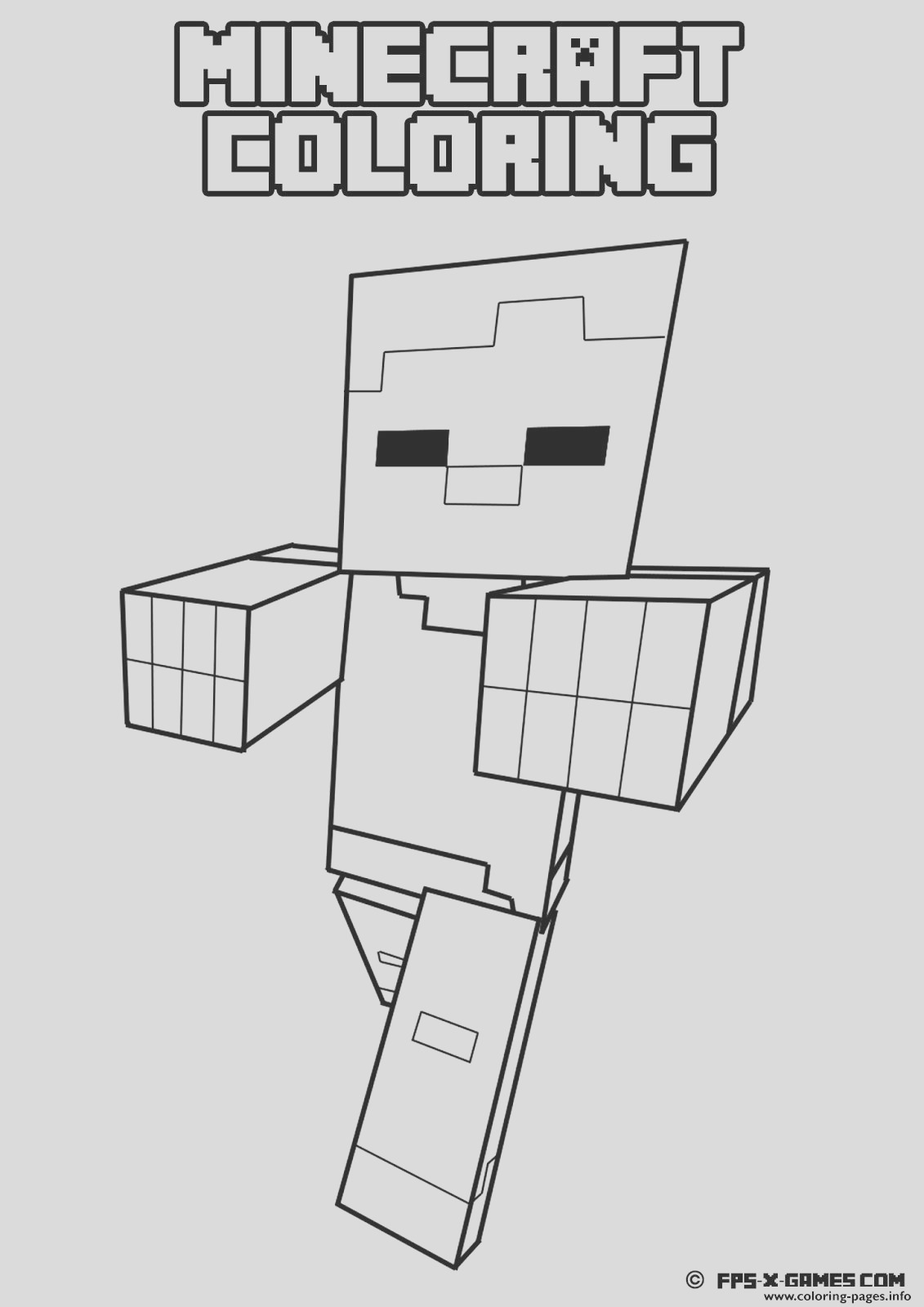 minecraft coloring kids printable coloring pages book 6550