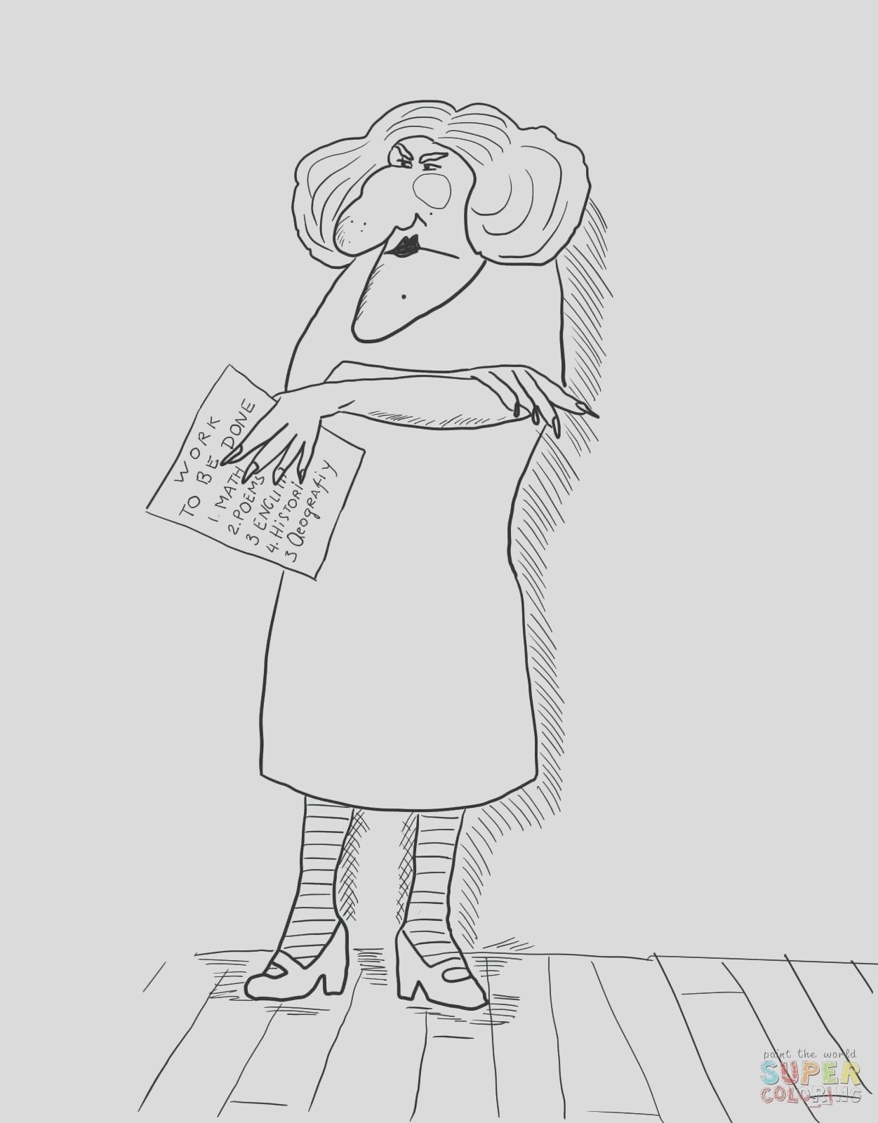 miss viola swamp coloring pages