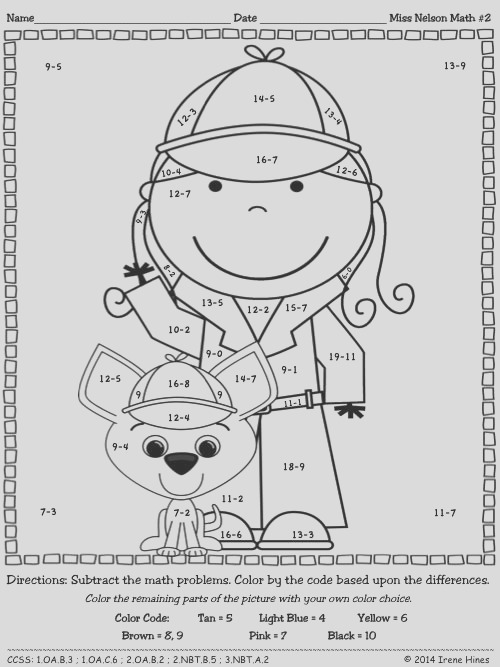 coloring pages color by code