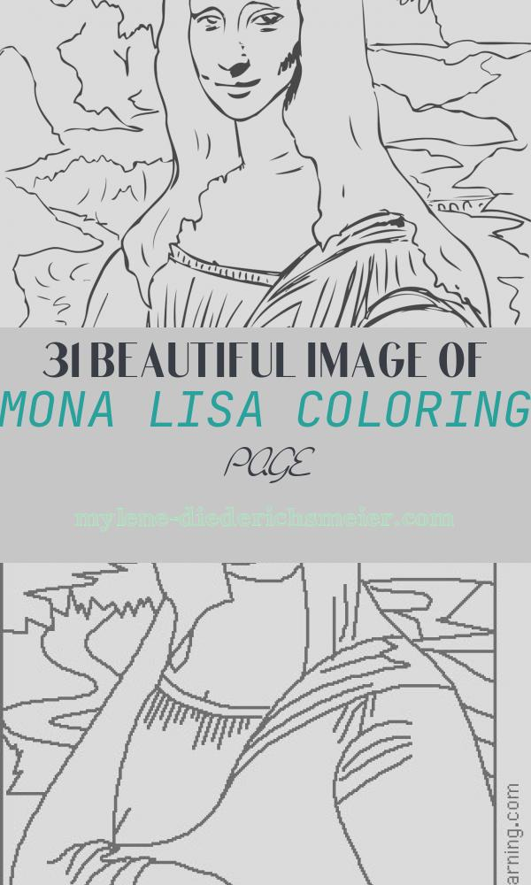 Mona Lisa Coloring Page Beautiful Famous Painting Colouring Pages – Be A Fun Mum