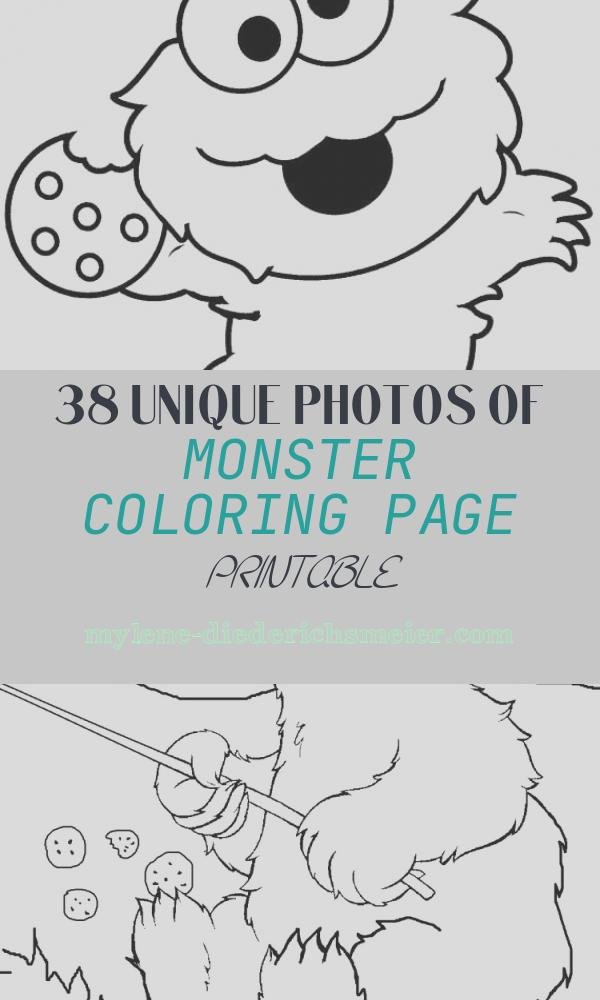 Monster Coloring Page Printable Lovely Printable Cookie Monster Coloring Pages for Kids