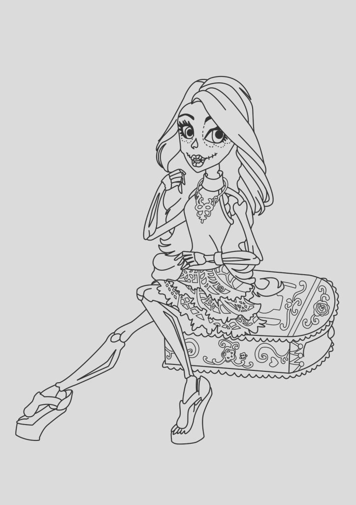 free printable monster high coloring pages coloring pages for monster high for free pages to color 35