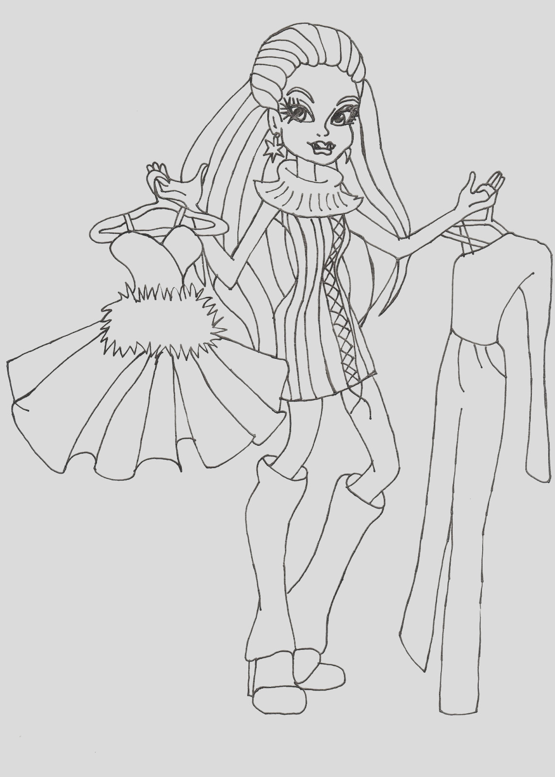 abbey i love fashion coloring sheet