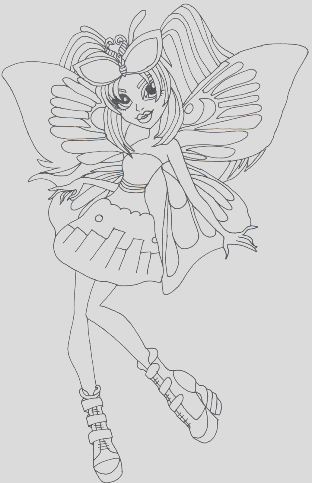 luna mothews monster high coloring page
