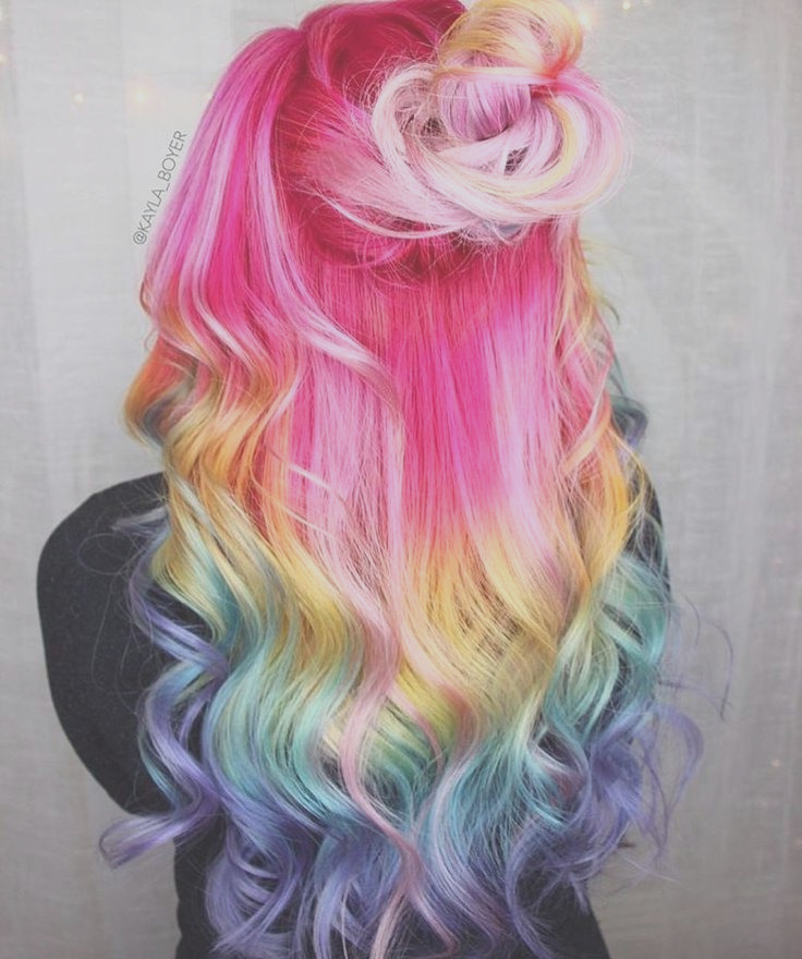 multi color hair ideas if im brave enough