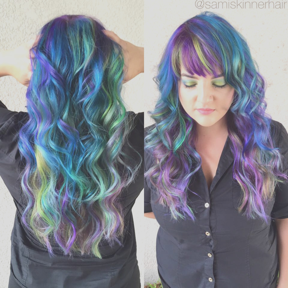 magical multi colored hair