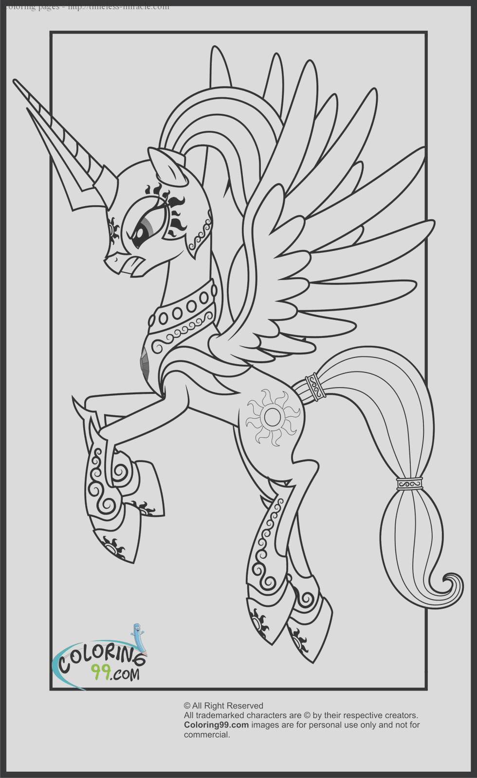 my little pony princess cadence coloring page sketch templates