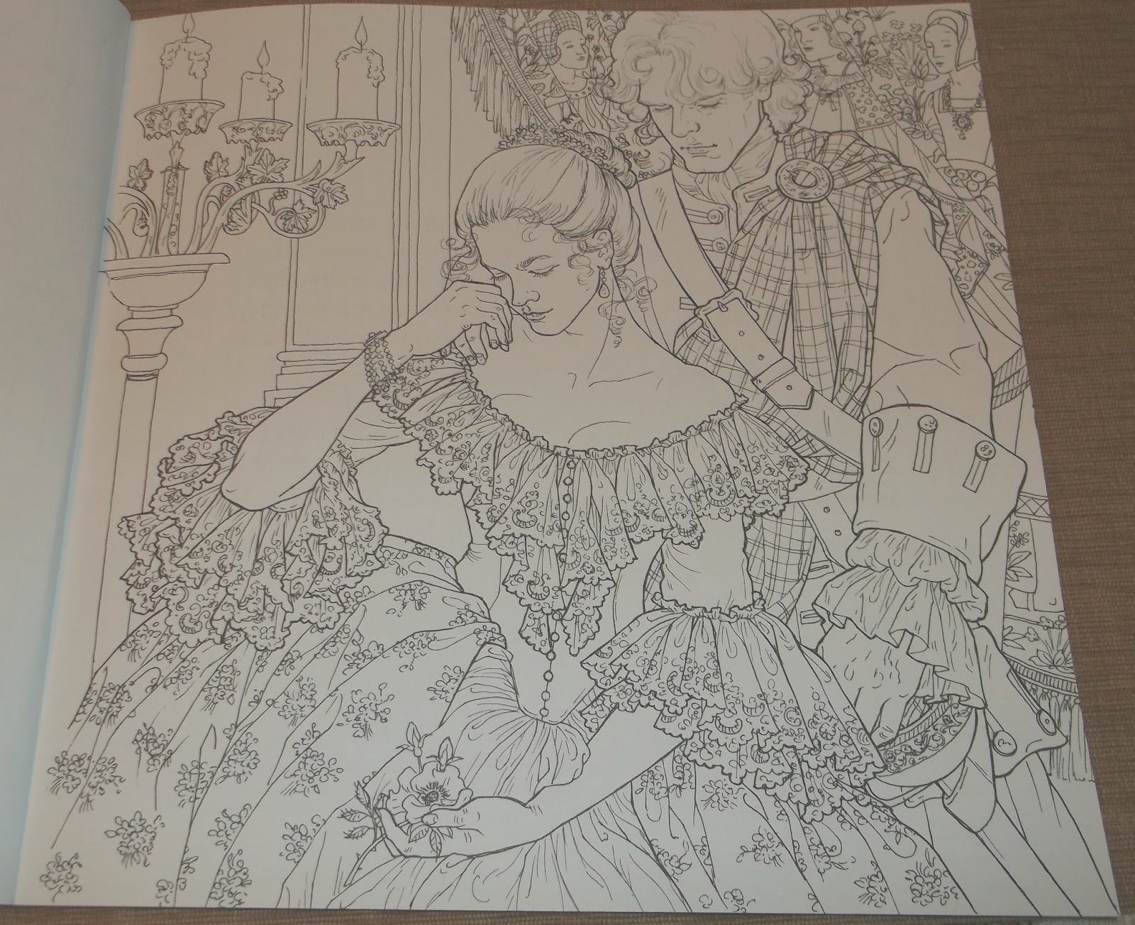 the official outlander coloring book
