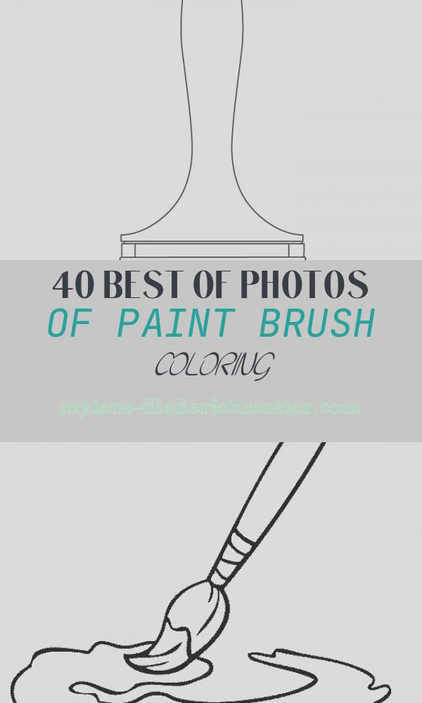 Paint Brush Coloring Luxury Paintbrush Coloring Pages