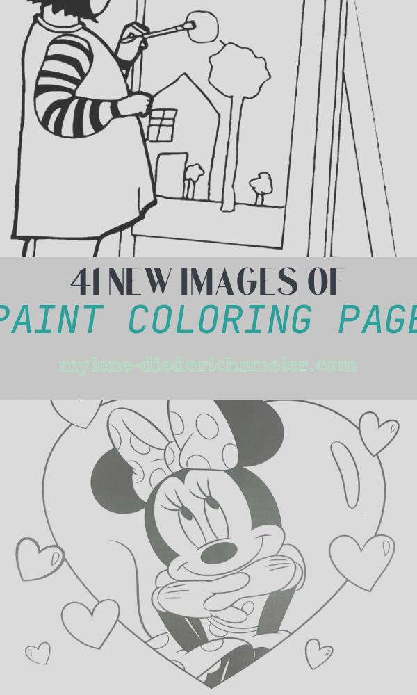 Paint Coloring Page New A Girl Paint A Beautiful House Coloring Page
