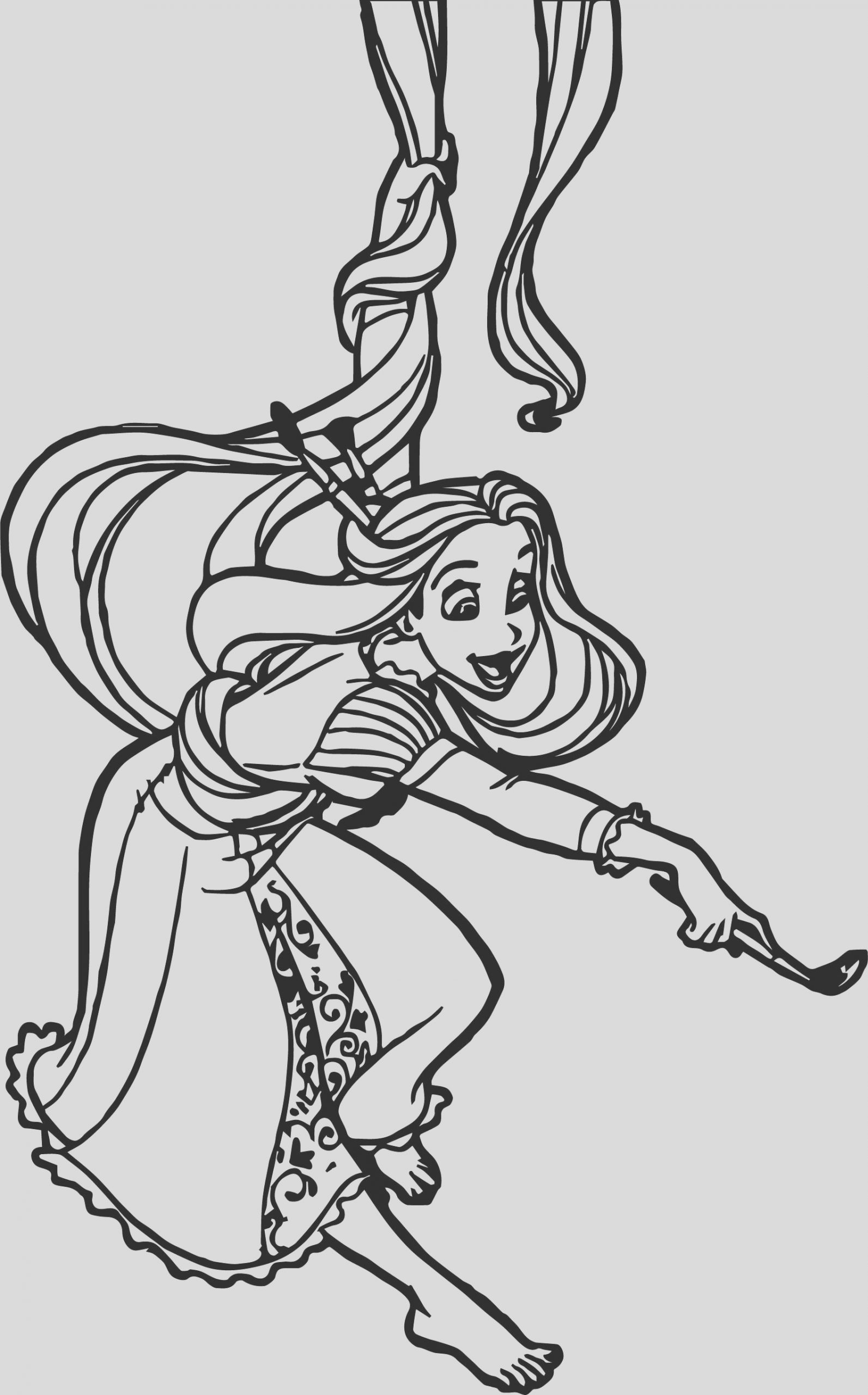 rapunzel painting coloring page